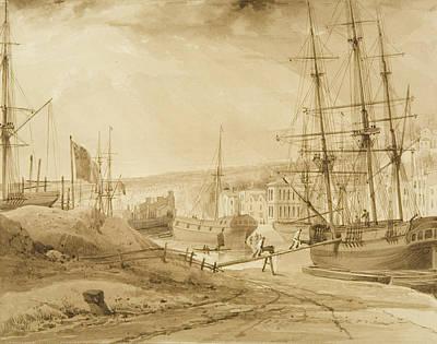 Dock Drawing - Mardyke Seen From Near Hilhouse's Dock by Thomas Leeson the Elder Rowbotham