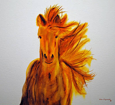 Horse Painting - Mare In Motion by Ken Figurski