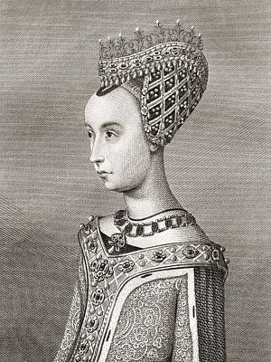 Margaret Of Denmark, 1456 Print by Vintage Design Pics