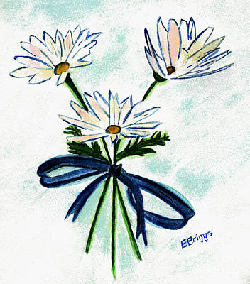 Daisy Painting - Marguerite Daisies by Elizabeth Briggs