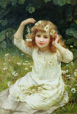 Posing Painting - Marguerites by Frederick Morgan