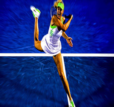 Maria Sharapova In Motion Print by Brian Reaves