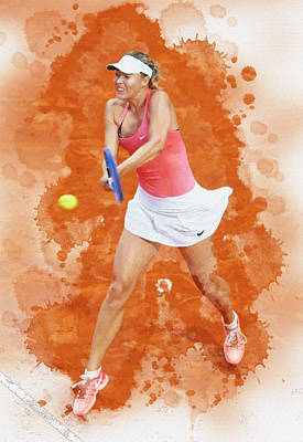 Maria Sharapova Of Russia Celebrates After Winning Original by Don Kuing