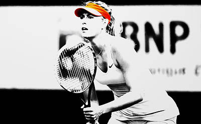 Maria Sharapova Stay Focused 2 Print by Brian Reaves