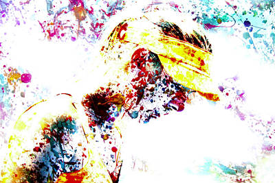 Maria Sharapova Paint Splatter 4p                 Print by Brian Reaves