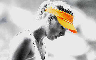 Us Open Mixed Media - Maria Sharapova Stay Focused by Brian Reaves