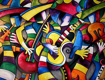 Musicos Painting - Mariachi Loco  by Javier J Sanchez Primo Todd