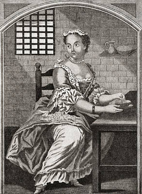Marie Catherine Taperet 1728 - 1755 Print by Vintage Design Pics