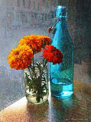 Marigolds Cafe Tabletop Print by R christopher Vest