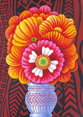 Marigolds Painting - Marigolds by Jane Tattersfield