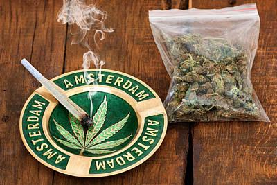 Ganja Mixed Media - Marijuana by Boyan Dimitrov