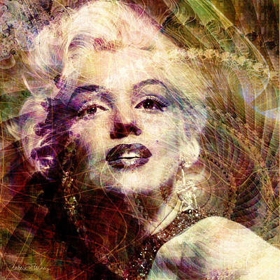 Actors Digital Art - Marilyn by Barbara Berney