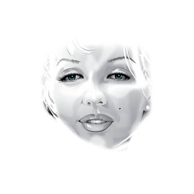 Munroe Drawing - Marilyn by Brian Gibbs
