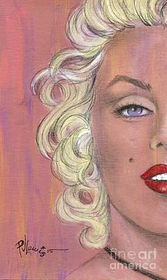 Marilyn Drawing - Marilyn Halfway by P J Lewis