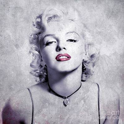 Lips Digital Art - Marilyn Monroe - 0102b by Variance Collections