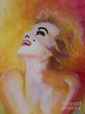 Painting - Marilyn Monroe 04 by Chrisann Ellis