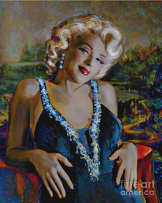 Painting - Marilyn Monroe 126 Monalisa by Theo Danella