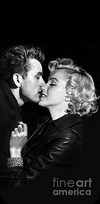 Marilyn Monroe And James Dean Painting - Marilyn Monroe And James Dean Kiss Iphone 6 Plus Cover Case 2014 by BRAILLIANT Contemporary Fashion Pop Art Prints