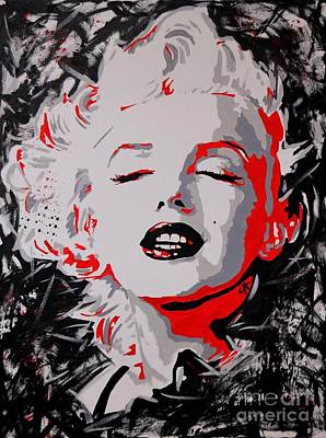 Marilyn Monroe Painting - Marilyn Monroe. Fade To Black. by Chris Harland