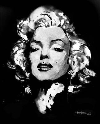 Monotone Painting - Marilyn Monroe by Haze Long