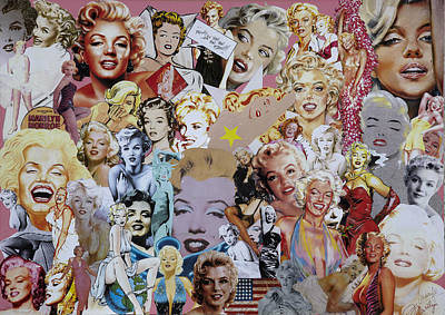 Misfits Mixed Media - Marilyn Monroe by Marijo Communier