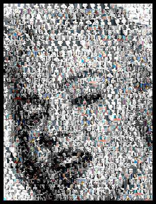 Marilyn Monroe Mosaic Print by Paul Van Scott