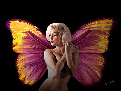 Marilyn Monroe The Fairy Print by Tray Mead