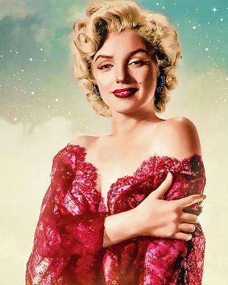 Digital Art - Marilyn Monroe - The Star  by Darlanne