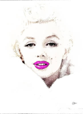 Marilyn Drawing - Marilyn Monroe Portrait by Quim Abella