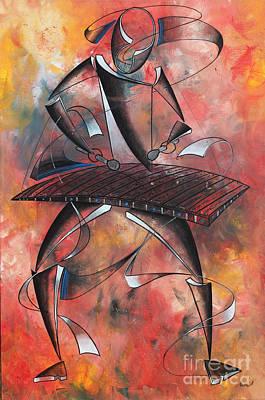 Painting - Marimba Instrument by Abu Artist
