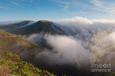Marin Headlands Fog Rising - Sausalito Marin County California Print by Silvio Ligutti