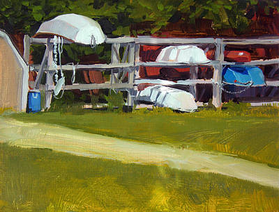 Dingy Painting - Marina Study No.2 by Anthony Sell