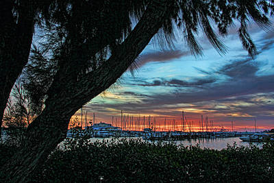 Seascape Photograph - Marina Sunset By H H Photography Of Florida  by HH Photography of Florida