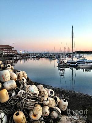 Winthrop Photograph - Marina Sunset by Extrospection Art
