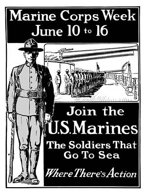 Marine Corps Week - Ww1  Print by War Is Hell Store