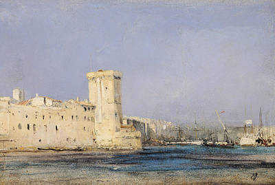Castle Painting - Marine Fortress by Louis Eugene Gabriel Isabey