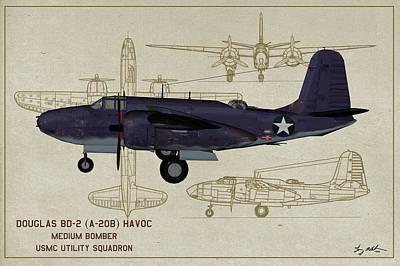 Digital Art - Marine Havoc - Profile Art by Tommy Anderson