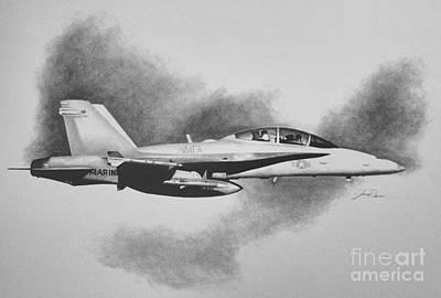 Marine Hornet Print by Stephen Roberson