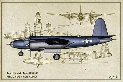 Digital Art - Marine Marauder - Profile Art by Tommy Anderson