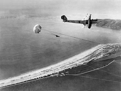 Marine Parachute Jumper Print by Underwood Archives