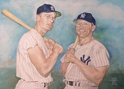 Mickey Mantle Painting - Maris And Mantle by Nigel Wynter