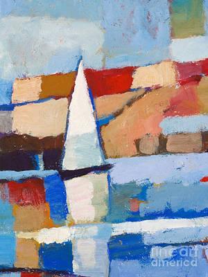 Colorfields Painting - Maritime by Lutz Baar