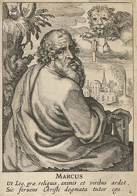 Drawing - Mark From The Four Evangelists by Pieter Feddes van Harlingen