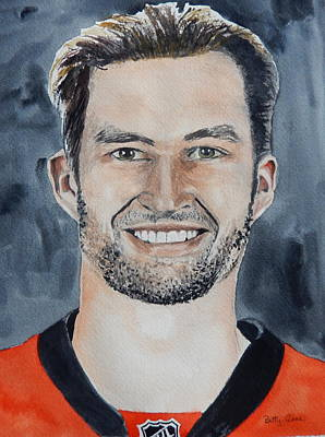National Hockey League Painting - Mark Stone by Betty-Anne McDonald