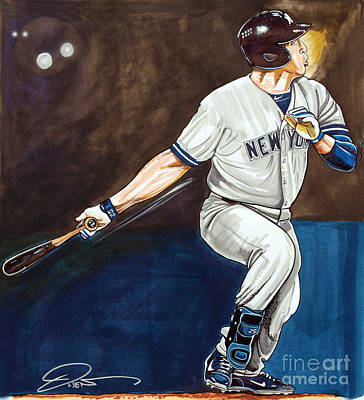 Yankees Drawing - Mark Teixeira by Dave Olsen