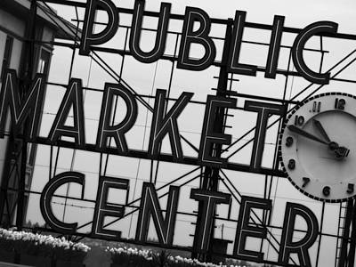 Seattle Photograph - Market by John Gusky