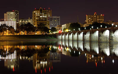 Market Street Bridge Reflections Print by Shelley Neff