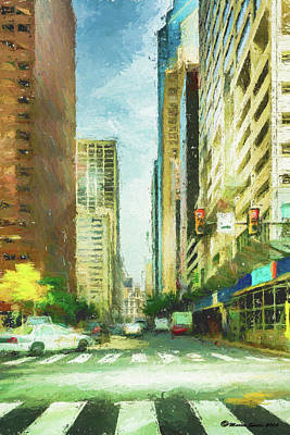 Market Street Print by Marvin Spates