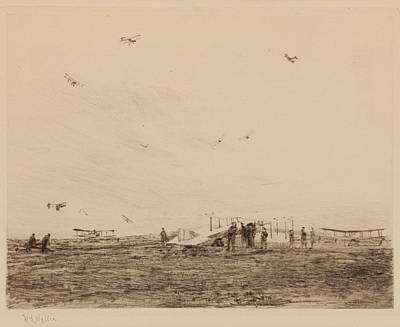 Markham Aerodrome Print by William Lionel Wyllie