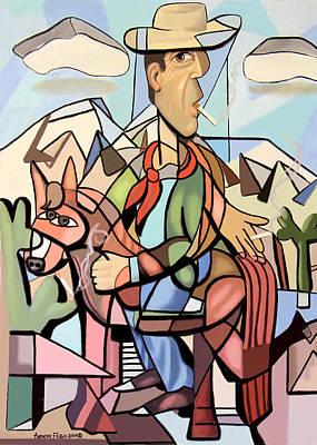 Digital Art - Marlboro Man by Anthony Falbo